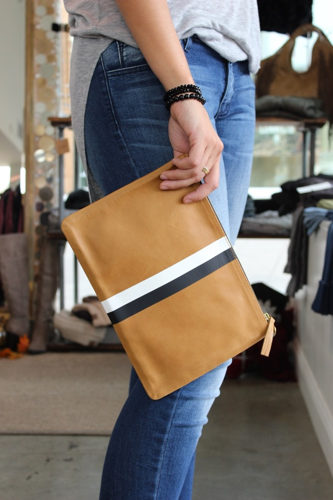 taupe clutch
